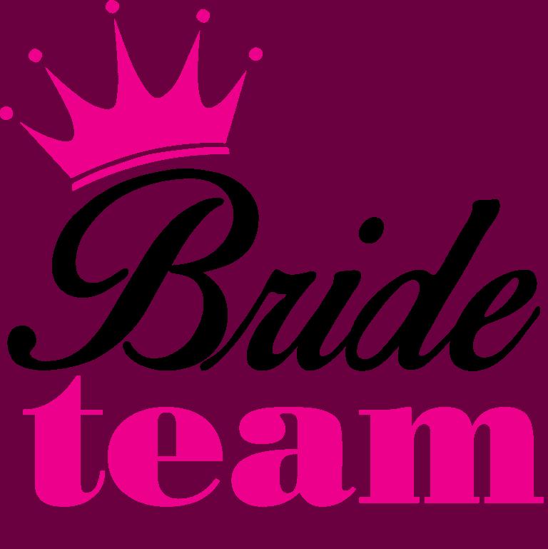 """""""Bride team"""" felirat (fekete és rózsaszín)"""